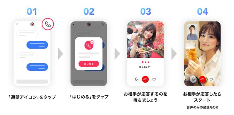 ビデオ通話はOmiaiアプリ内だから安心・便利